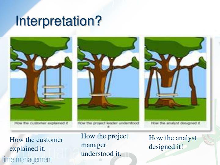 Interpretation?