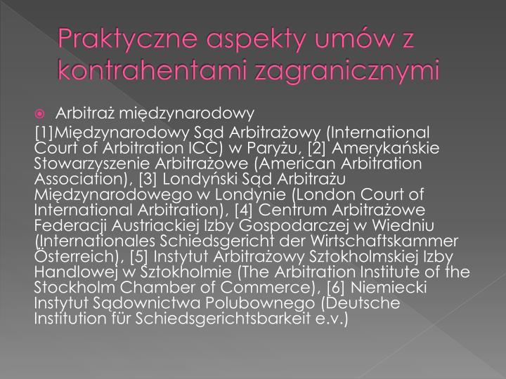 Praktyczne aspekty umów z kontrahentami zagranicznymi