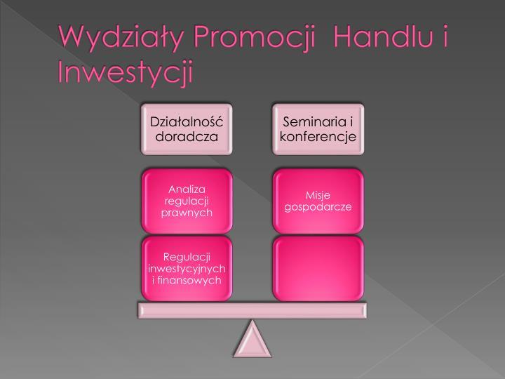 Wydziały Promocji  Handlu i Inwestycji
