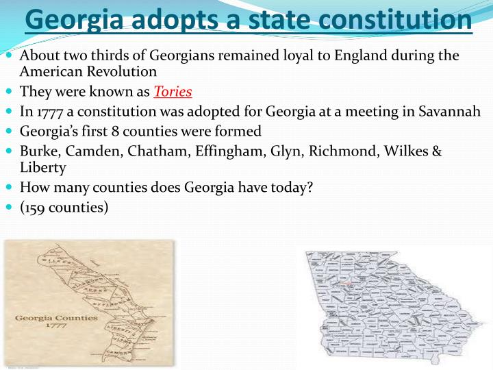 Georgia adopts a state constitution
