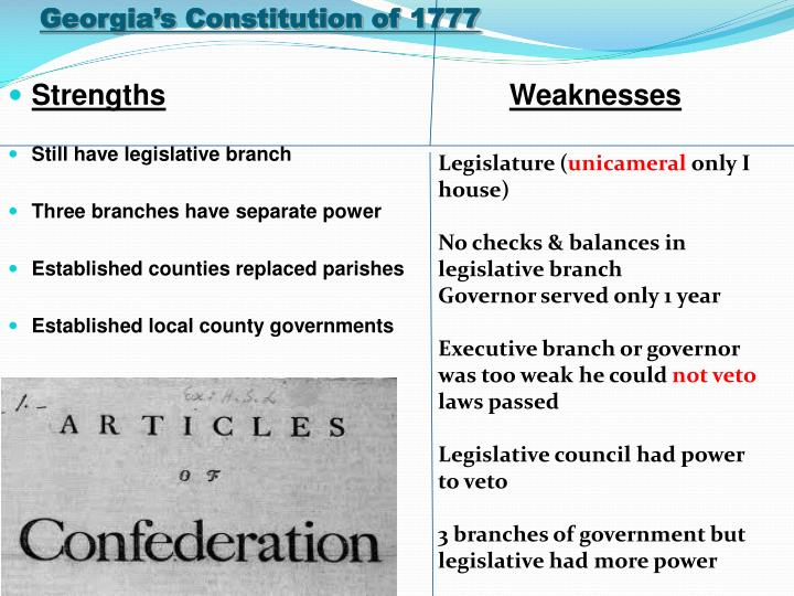 Georgia's Constitution of 1777