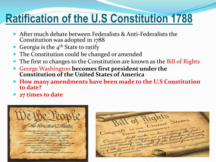 Ratification of the U.S Constitution 1788