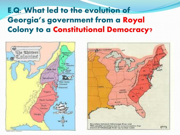 E.Q: What led to the evolution of Georgia's government from a