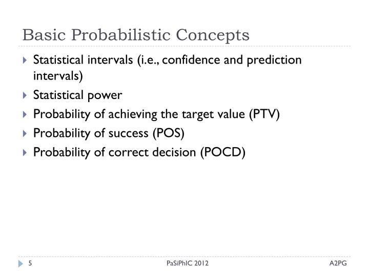 Basic Probabilistic Concepts