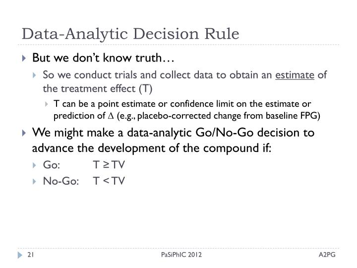 Data-Analytic Decision Rule