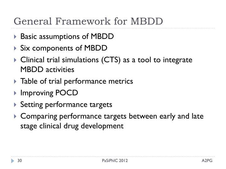 General Framework for MBDD