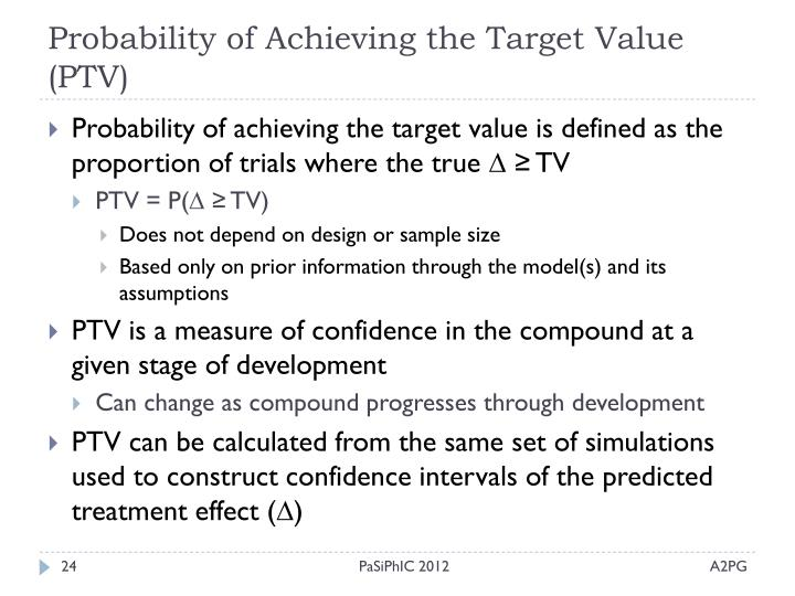 Probability of Achieving the Target Value (PTV)