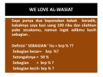 we love al wasiat