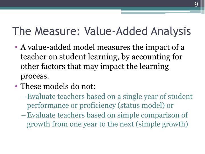 The Measure: Value-Added Analysis