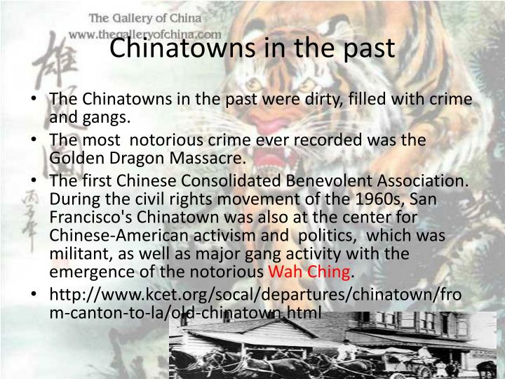 Chinatowns in the past