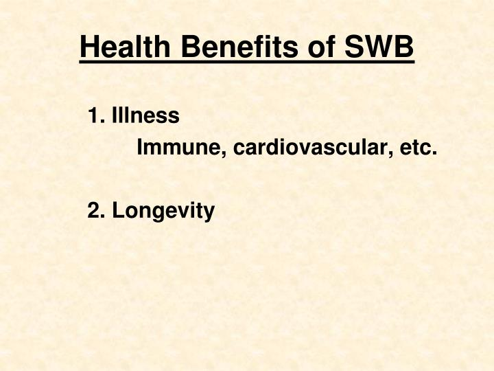 Health Benefits of SWB
