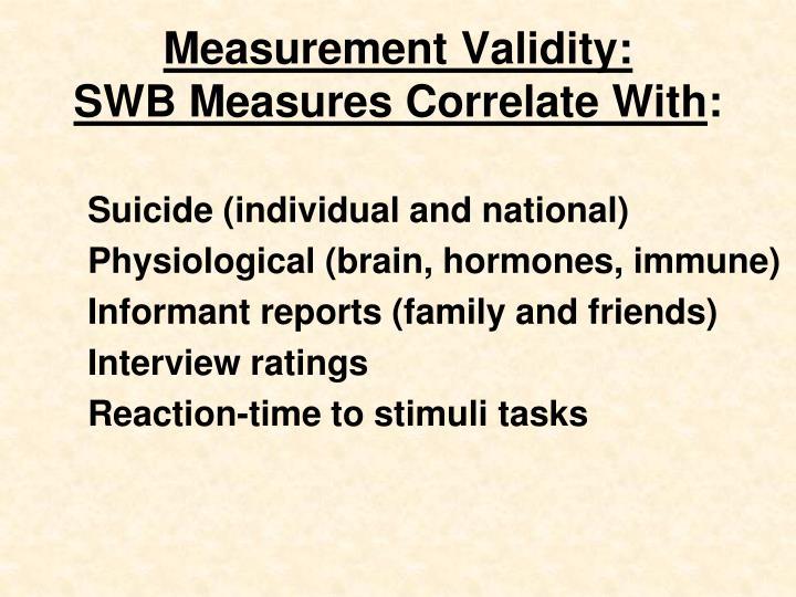 Measurement Validity:
