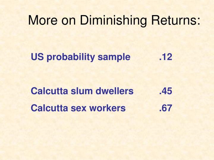More on Diminishing Returns: