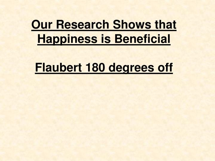 Our Research Shows that Happiness is Beneficial