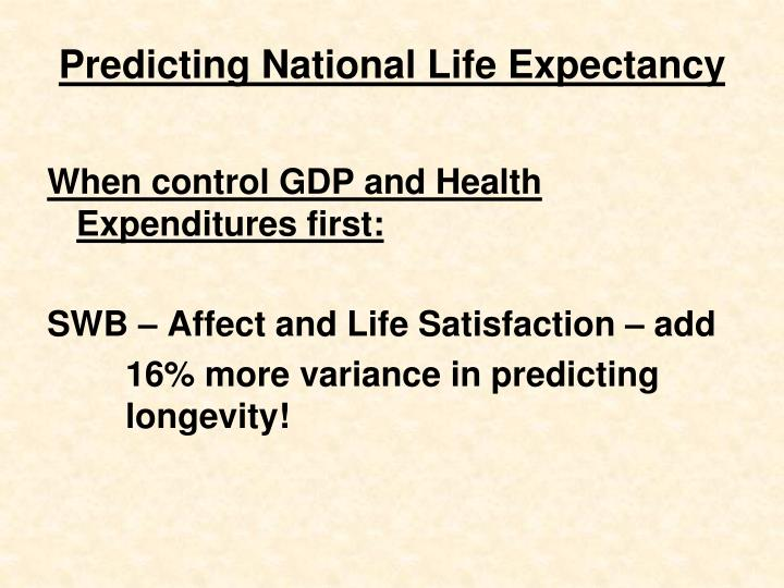 Predicting National Life Expectancy