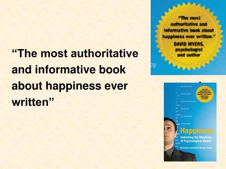 """The most authoritative"