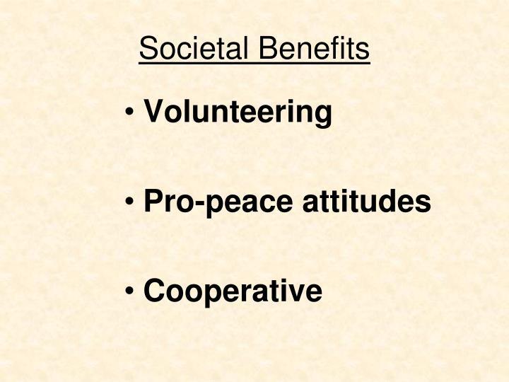 Societal Benefits