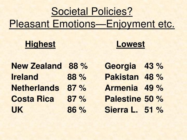 Societal Policies?