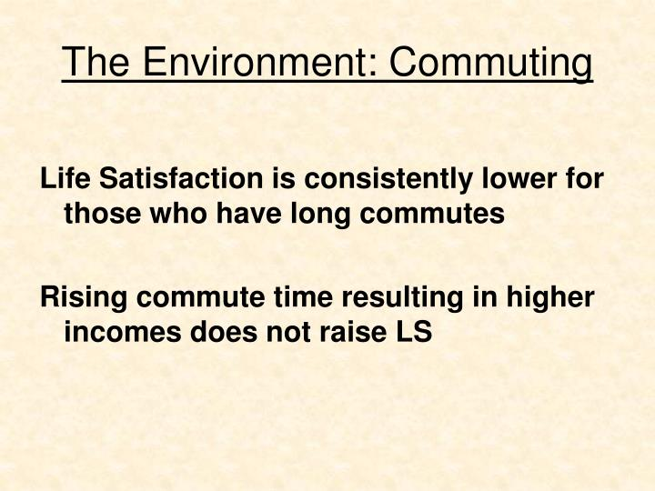 The Environment: Commuting