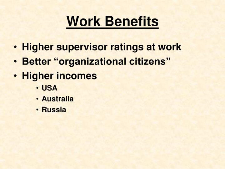 Work Benefits
