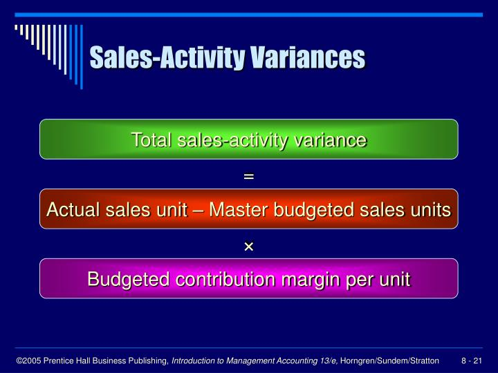 Sales-Activity Variances