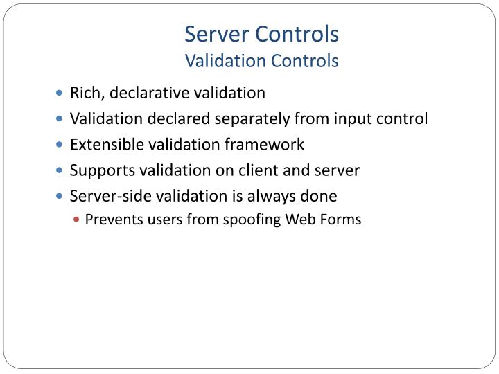 Server controls validation controls1