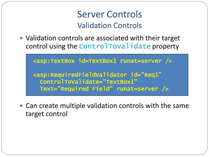 Server Controls