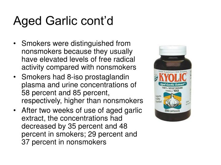 Aged Garlic cont'd