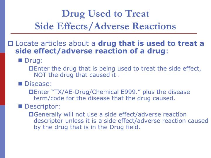 Drug Used to Treat