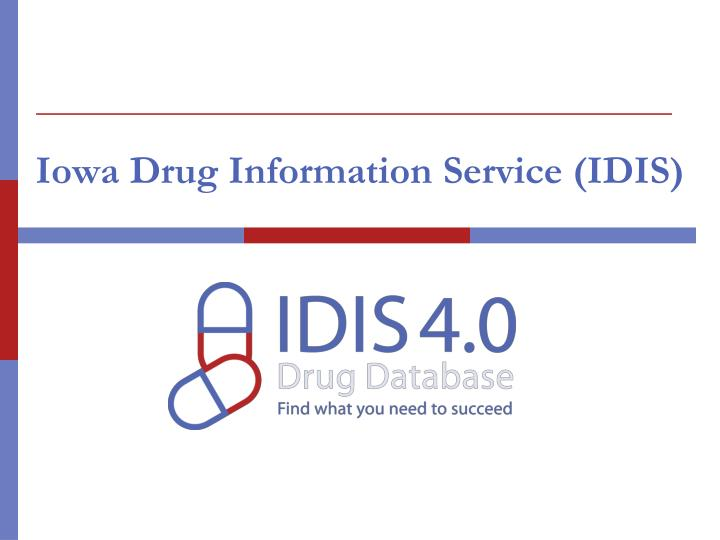 Iowa drug information service idis