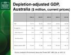 depletion adjusted gdp australia million current prices