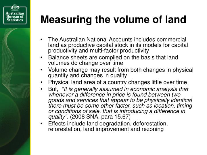 Measuring the volume of land