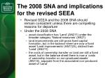 the 2008 sna and implications for the revised seea