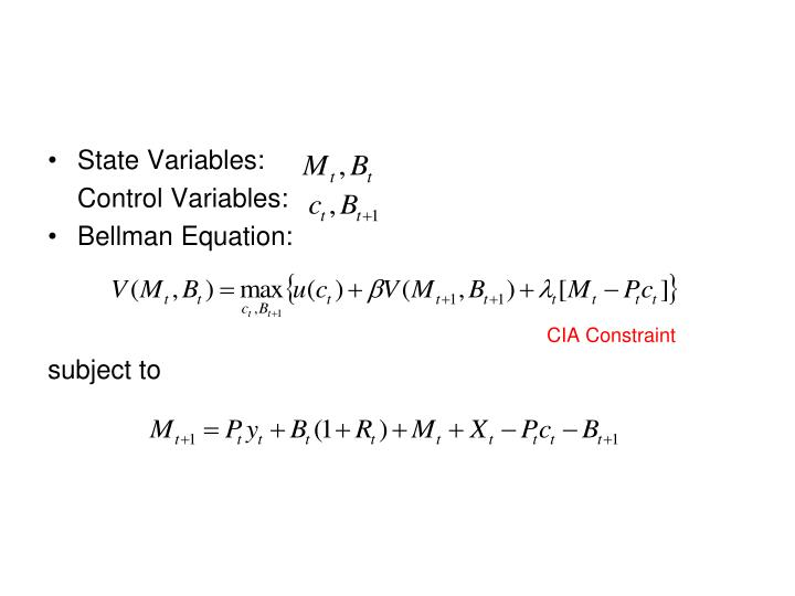 State Variables: