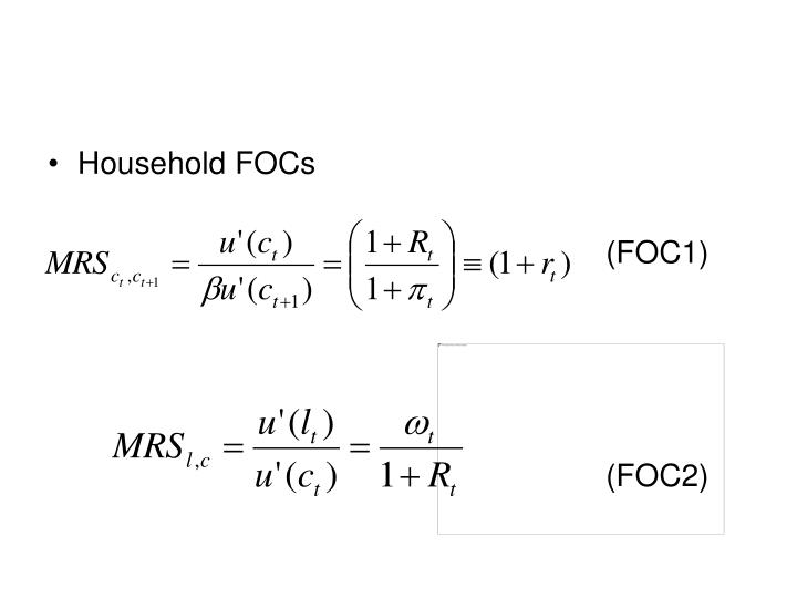 Household FOCs