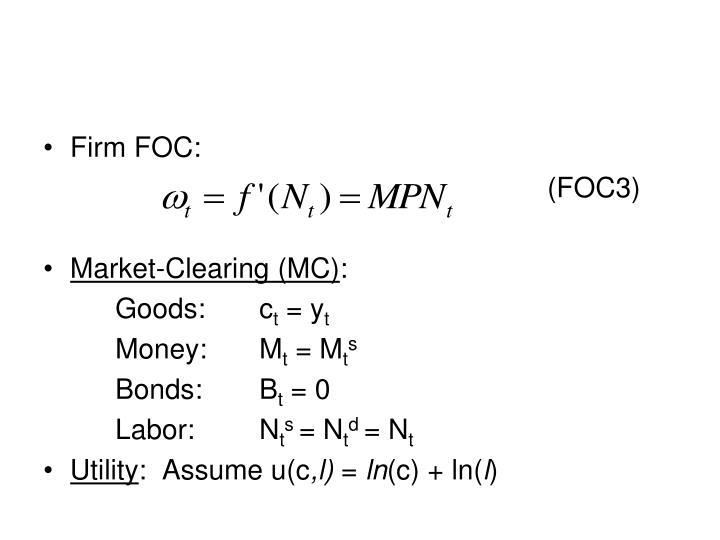 Firm FOC: