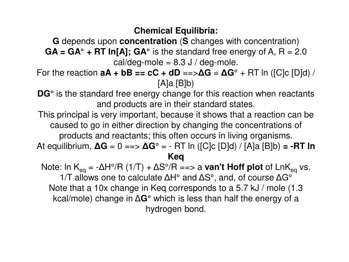 Chemical Equilibria: