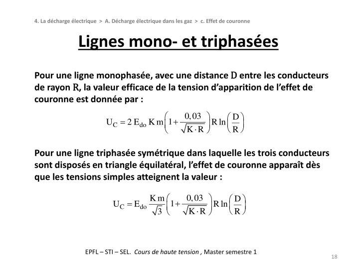 Lignes mono- et triphasées