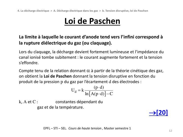 Loi de Paschen