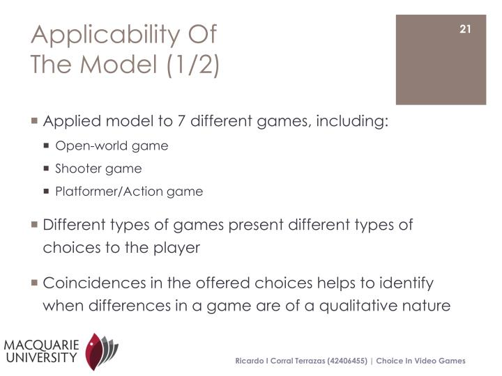 Applicability Of