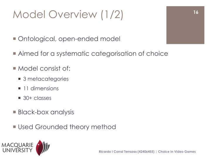 Model Overview (1/2)