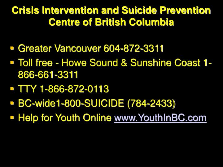 Crisis Intervention and Suicide Prevention Centre of British Columbia