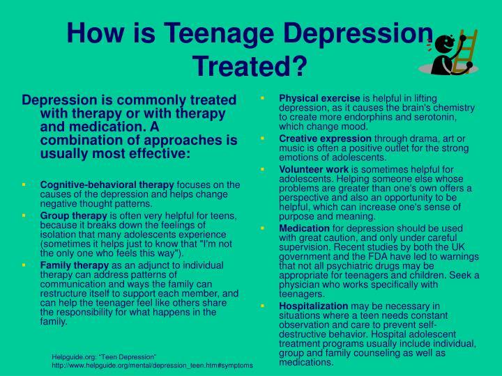 How is Teenage Depression Treated?