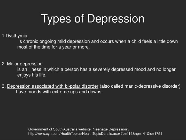 Types of Depression