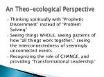 an theo ecological perspective