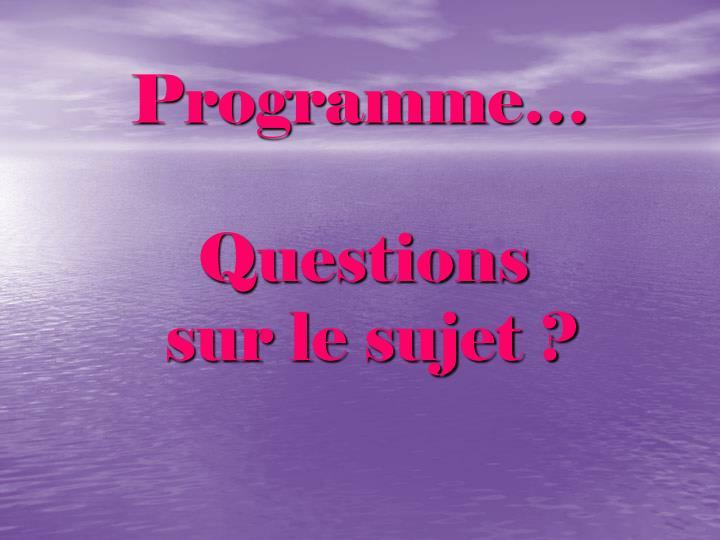 Programme…