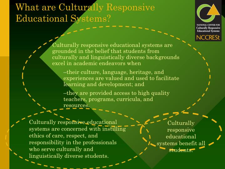 What are Culturally Responsive Educational Systems?