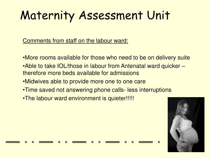 Comments from staff on the labour ward: