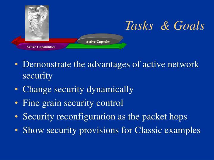 Tasks  & Goals