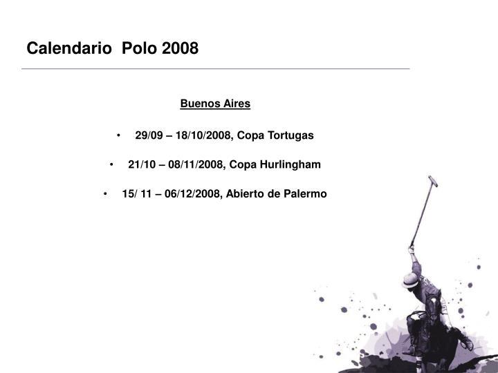 Calendario  Polo 2008